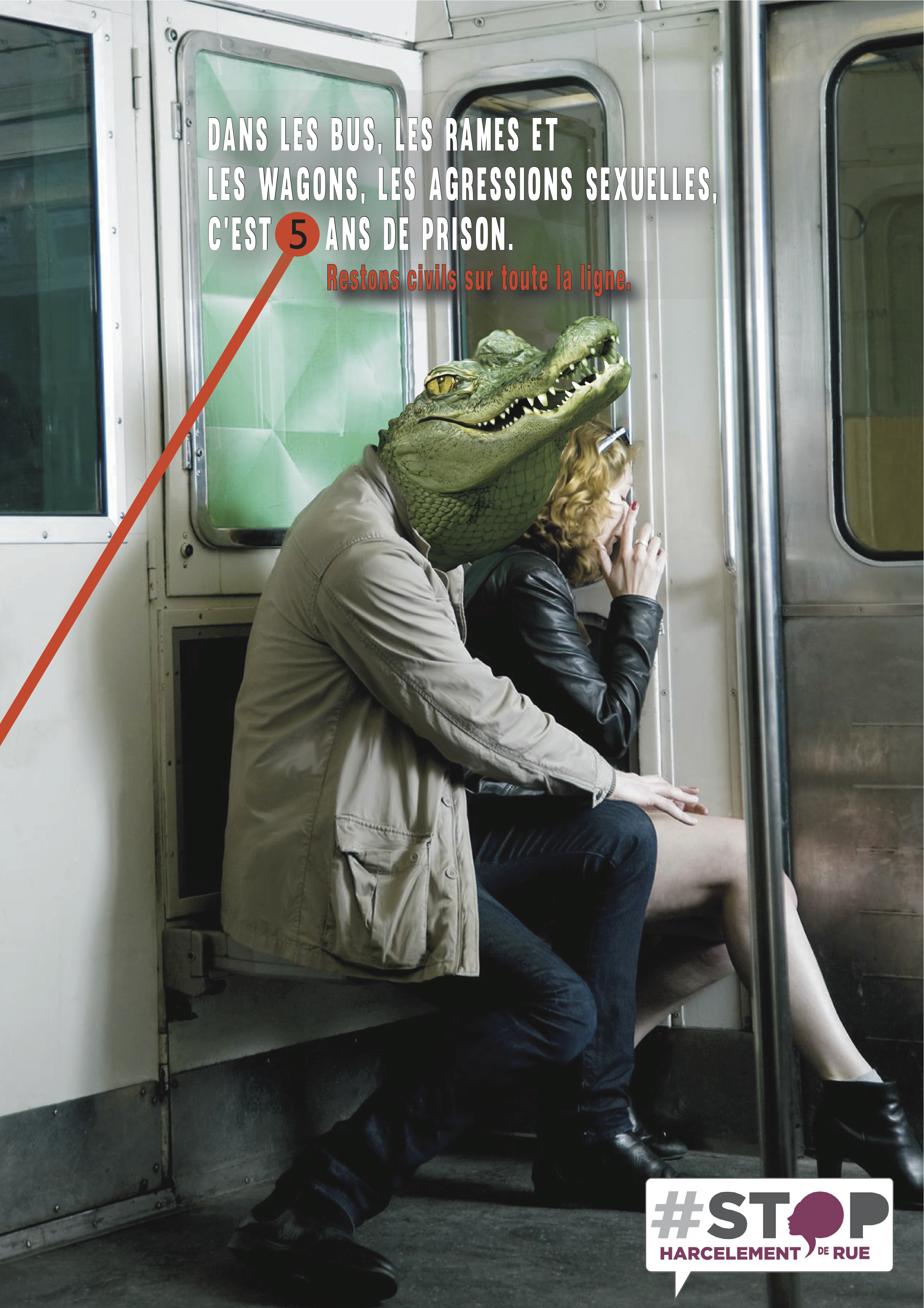 affiche RATP StopHDR Croco